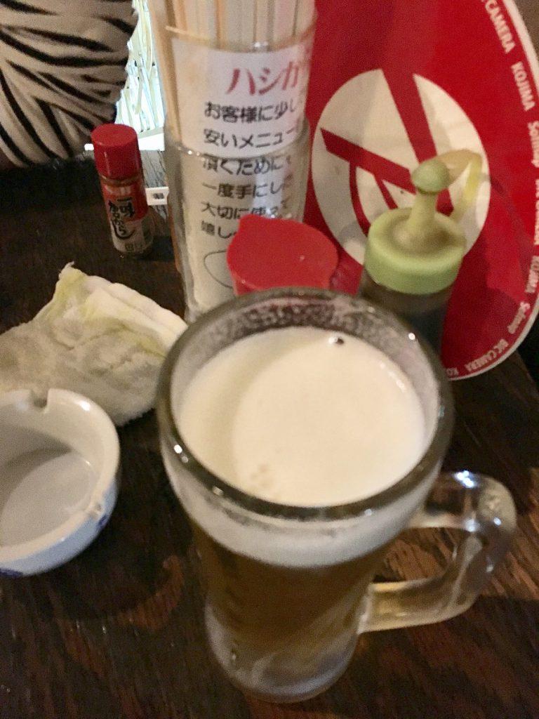 キンキンの生ビール