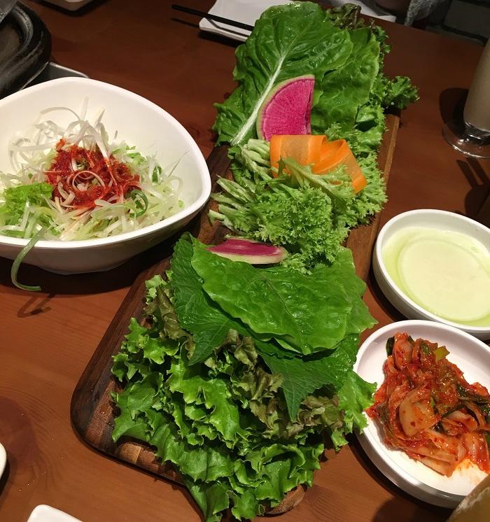 サンチュや野菜